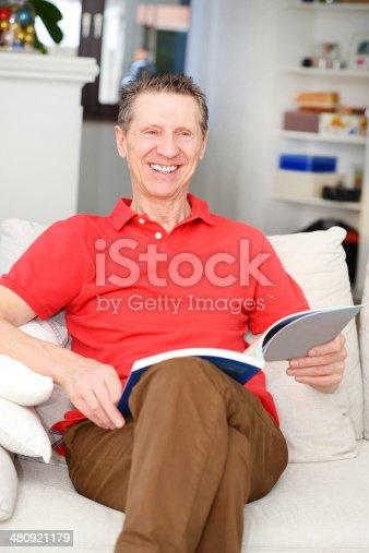 istock Indoor Portrait Of Happy Senior Man 480921179