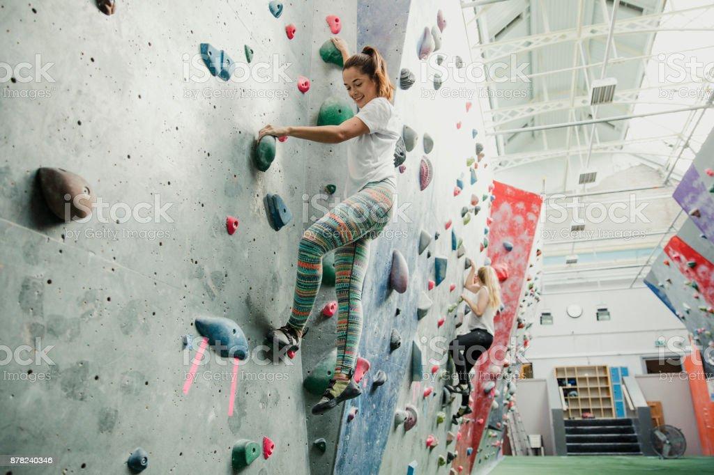 Indoor Rock Climbing Sitzung – Foto