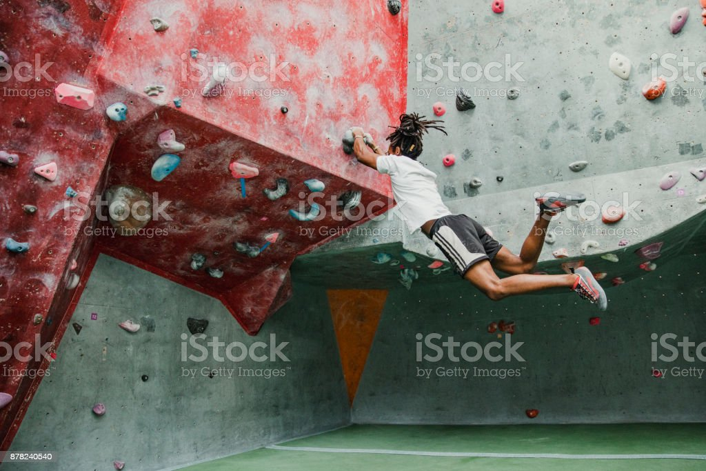 Indoor Rock Climbing Session stock photo