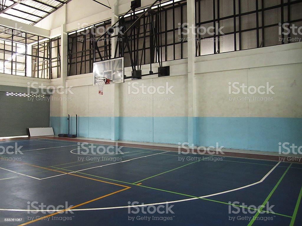 Indoor School Basketball Court stock photo 533261087   iStock