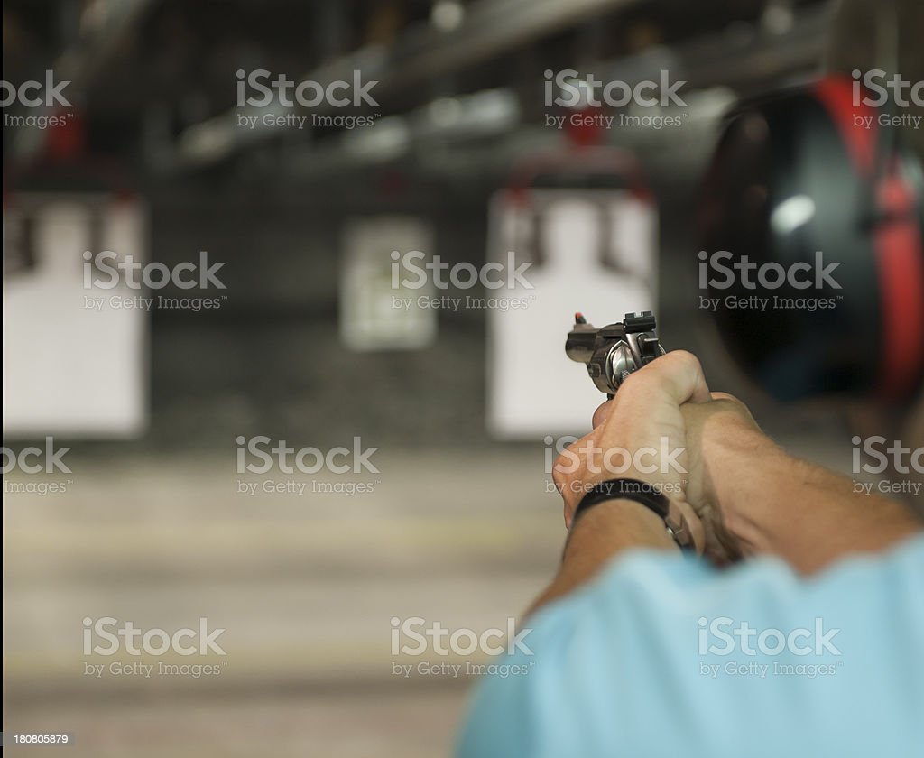 indoor shooting range royalty-free stock photo