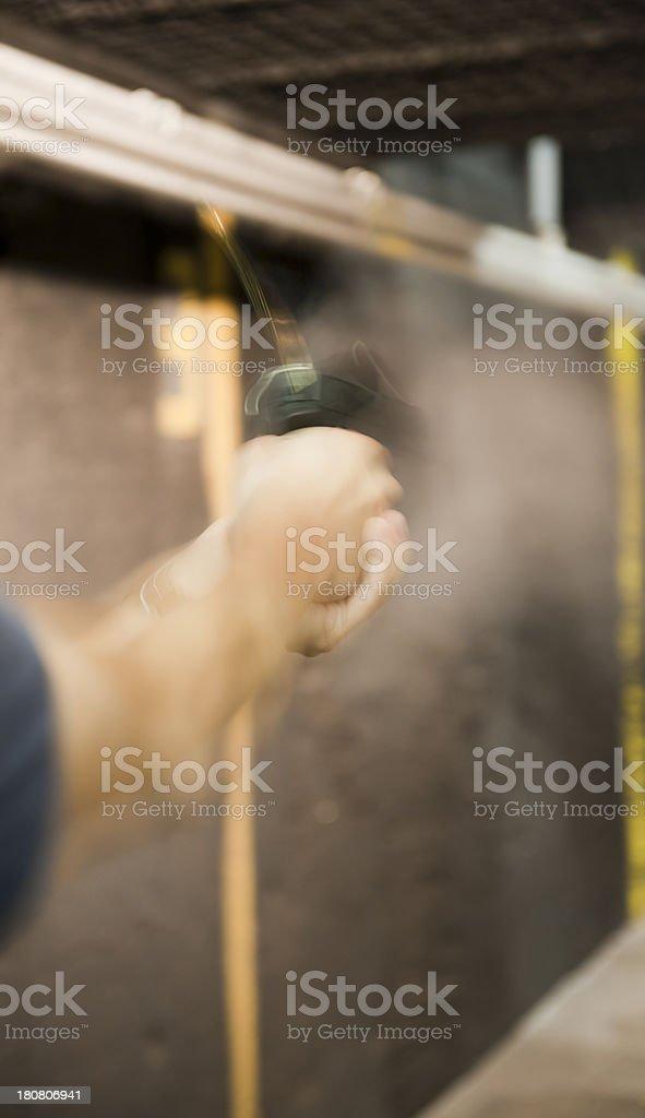 indoor shooting range royalty-free stock photo