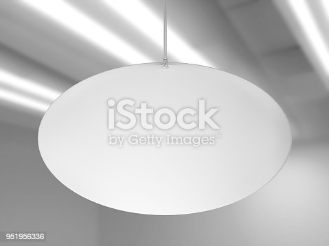 istock Indoor Single Sided Wall Mounted Display Acrylic Poster Frame for advertising. 3d render illustration. 951956336