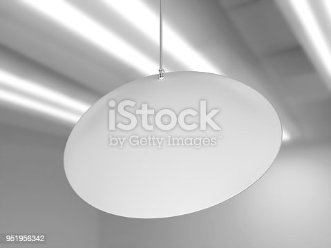 istock Indoor Single Sided Wall Mounted Display Acrylic Poster Frame for advertising. 3d render illustration. 951956342