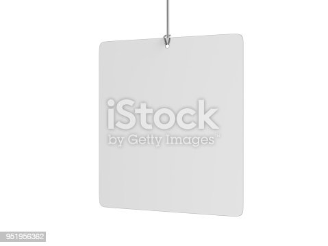 istock Indoor Single Sided Wall Mounted Display Acrylic Poster Frame for advertising. 3d render illustration. 951956362