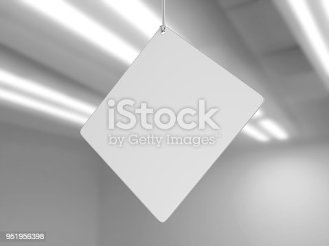 istock Indoor Single Sided Wall Mounted Display Acrylic Poster Frame for advertising. 3d render illustration. 951956398