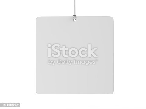 istock Indoor Single Sided Wall Mounted Display Acrylic Poster Frame for advertising. 3d render illustration. 951956404