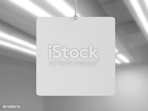 istock Indoor Single Sided Wall Mounted Display Acrylic Poster Frame for advertising. 3d render illustration. 951956418