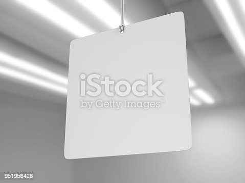 istock Indoor Single Sided Wall Mounted Display Acrylic Poster Frame for advertising. 3d render illustration. 951956426