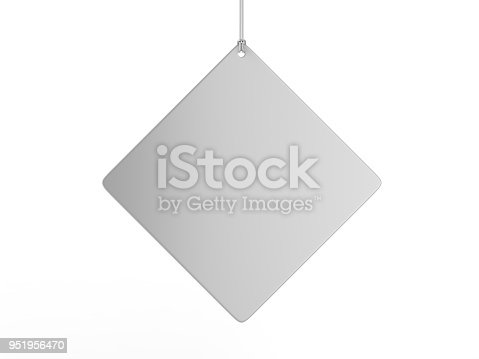 istock Indoor Single Sided Wall Mounted Display Acrylic Poster Frame for advertising. 3d render illustration. 951956470