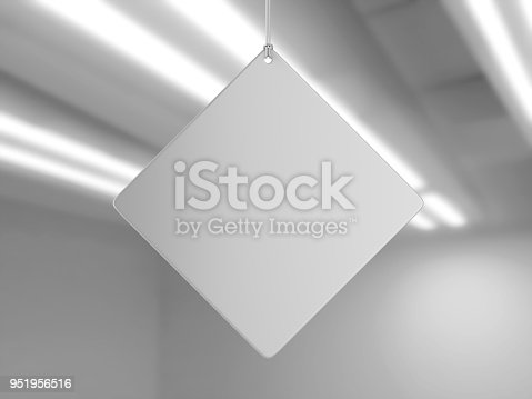 istock Indoor Single Sided Wall Mounted Display Acrylic Poster Frame for advertising. 3d render illustration. 951956516