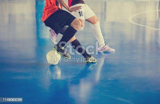 istock Indoor soccer sports hall. 1149063259