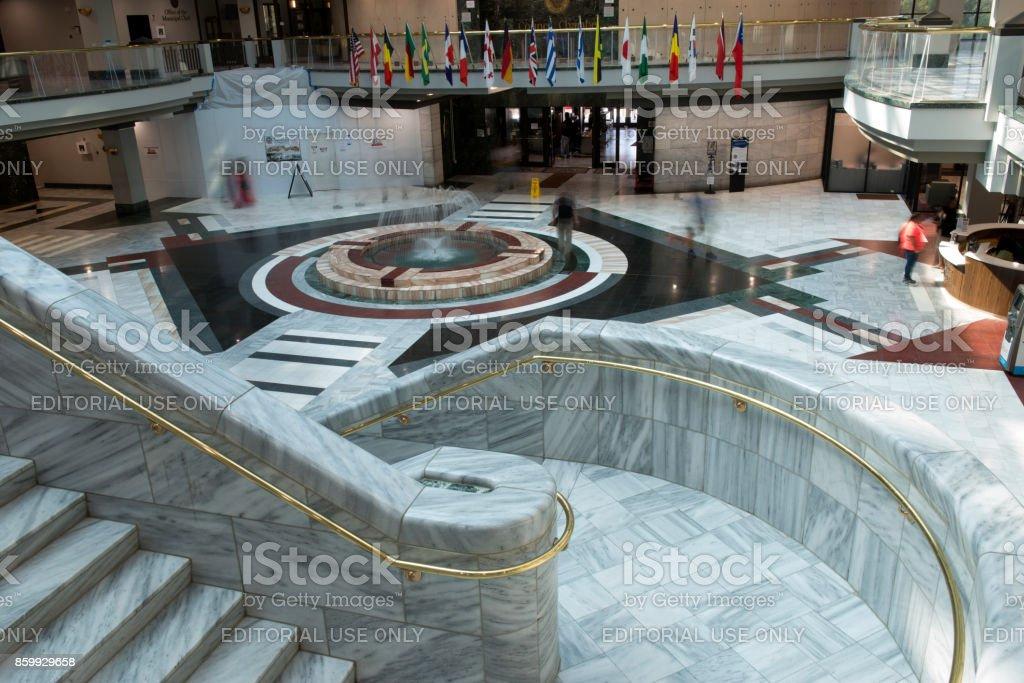 Indoor Structures of Atlanta City Hall stock photo