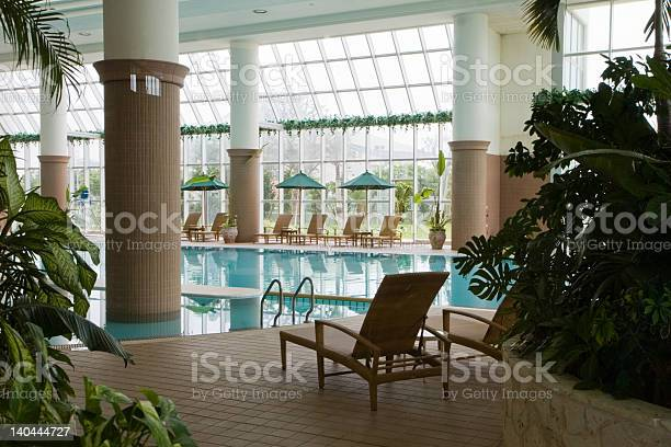 Indoor Swimming Pool At Resort Stock Photo - Download Image Now