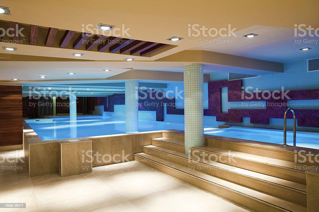 Indoor swimmingpool stock photo