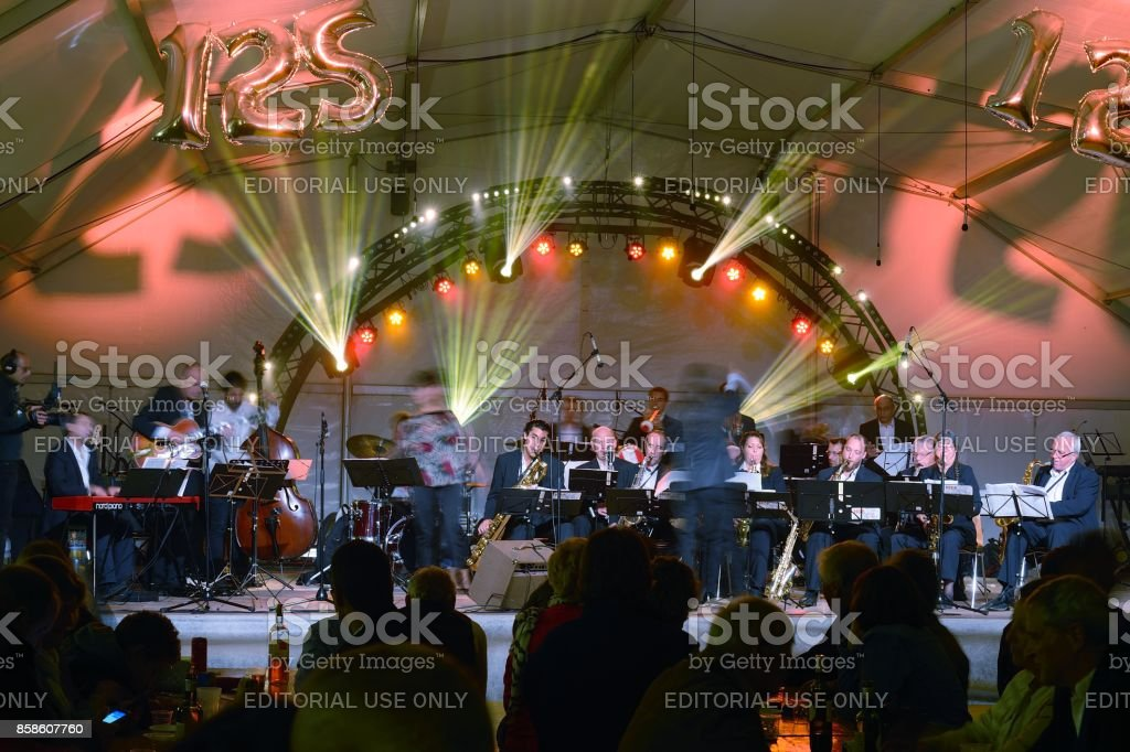 Indoor Symphony concerts for celebration stock photo