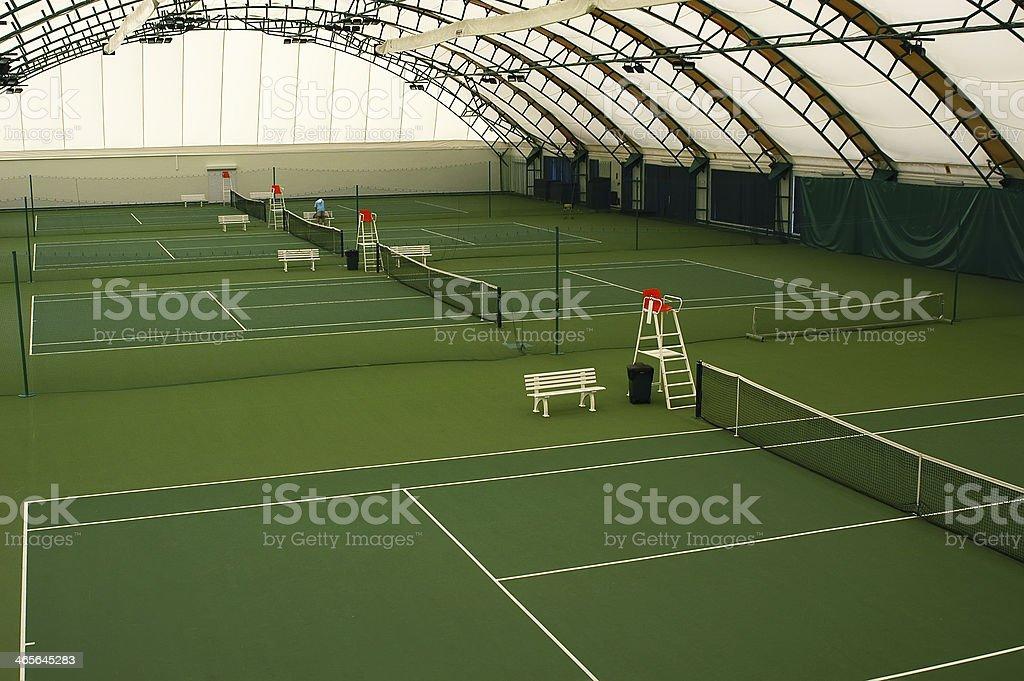 Indoor tennis court royalty-free stock photo