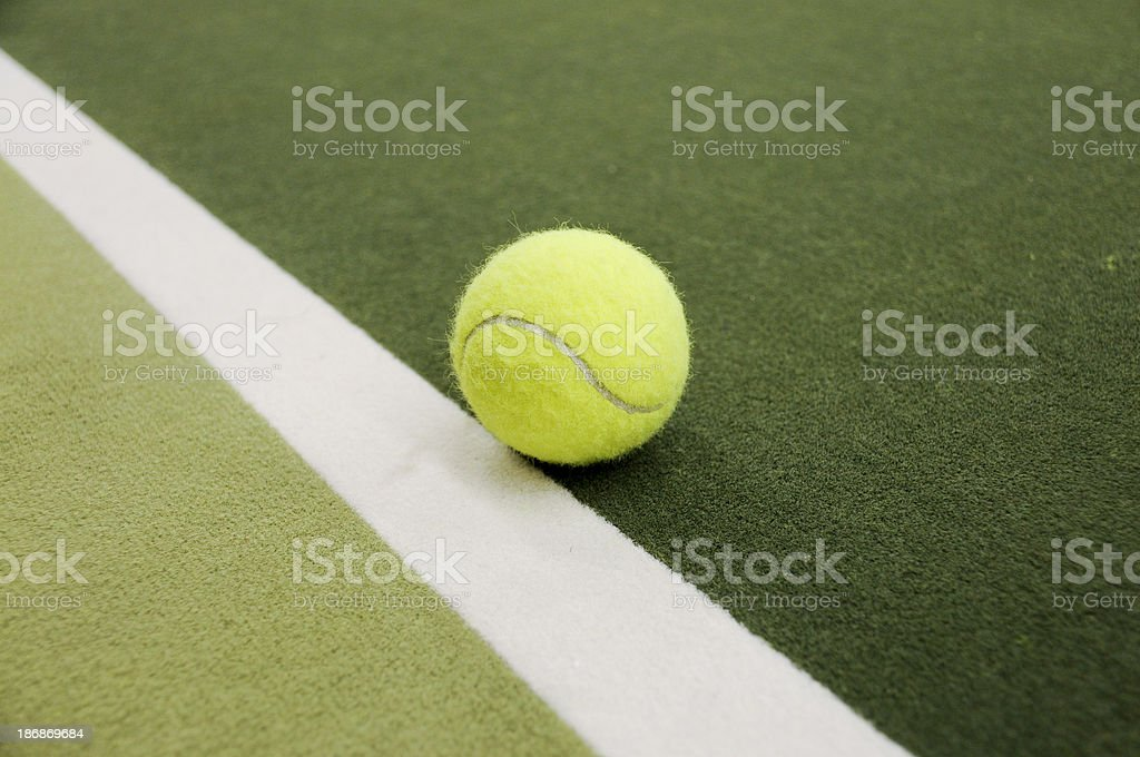 Indoor tennis on the line royalty-free stock photo