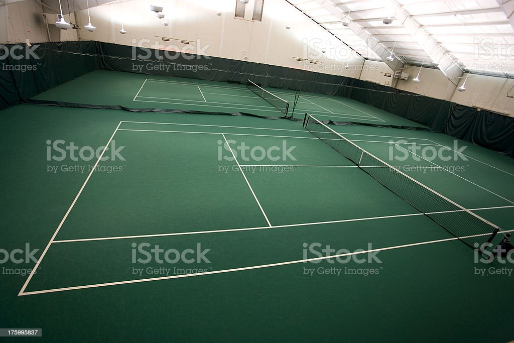 Indoor Tennis royalty-free stock photo
