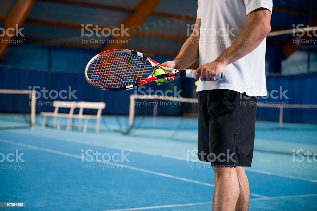 Indoor Tennis Player stock photo