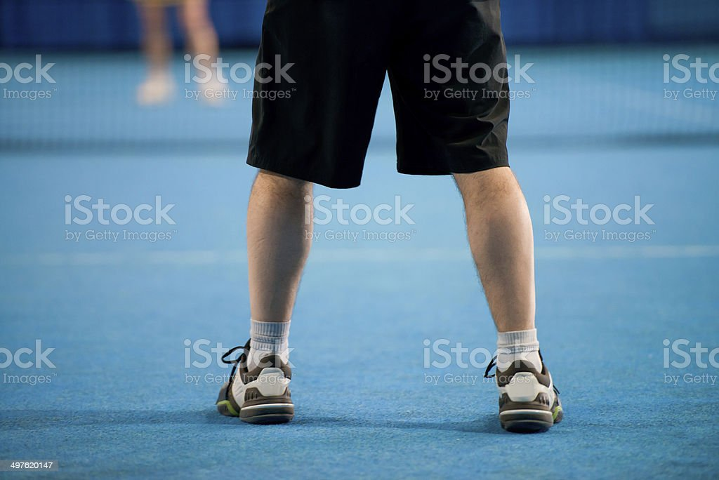 Indoor Tennis Player royalty-free stock photo