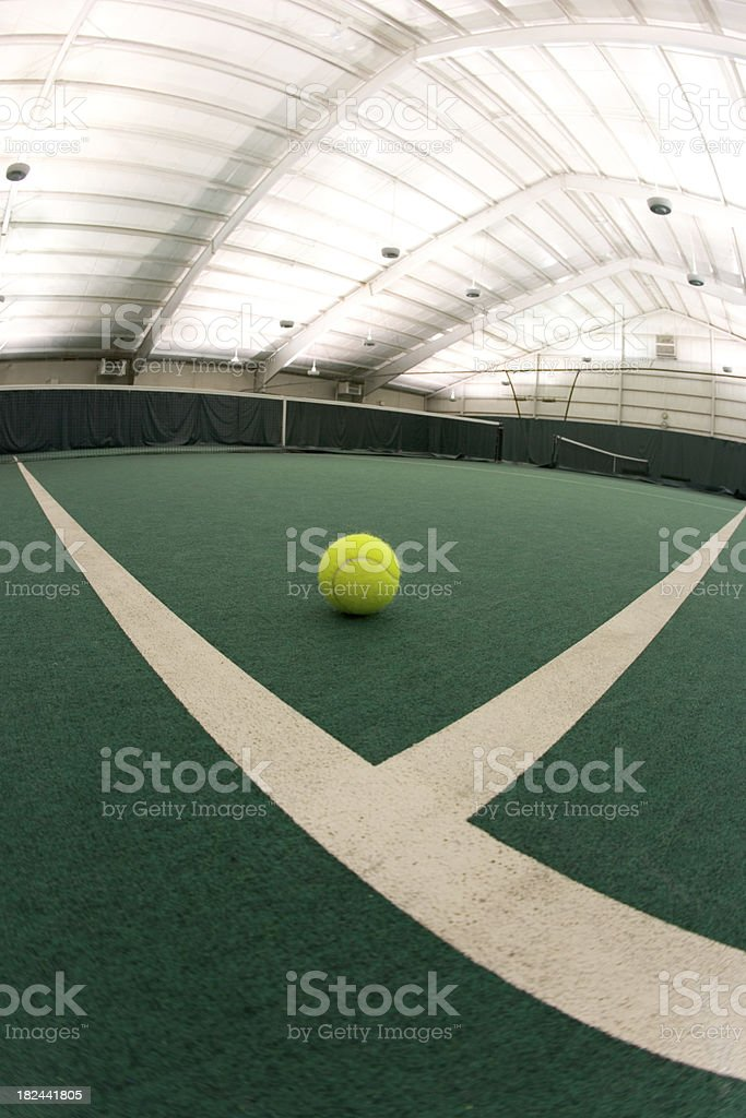 Indoor Tennis Twist 1 royalty-free stock photo
