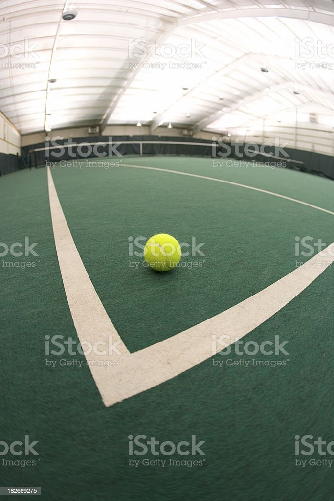 Indoor Tennis Twist 2 royalty-free stock photo