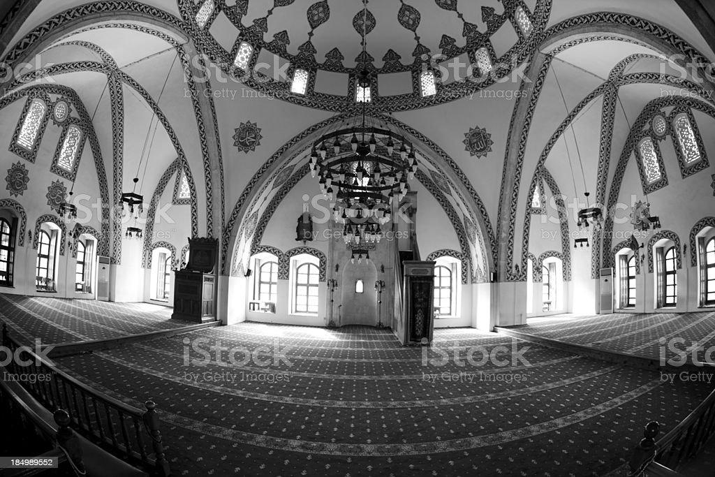 Indoor view of Habib-i Neccar Mosque, Antakya stock photo