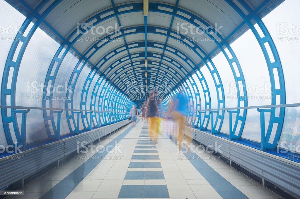 indoor walkway stock photo