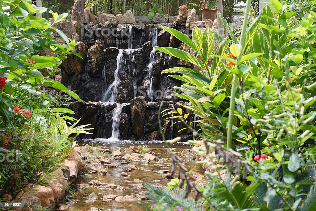 Indoor waterfall royalty-free stock photo
