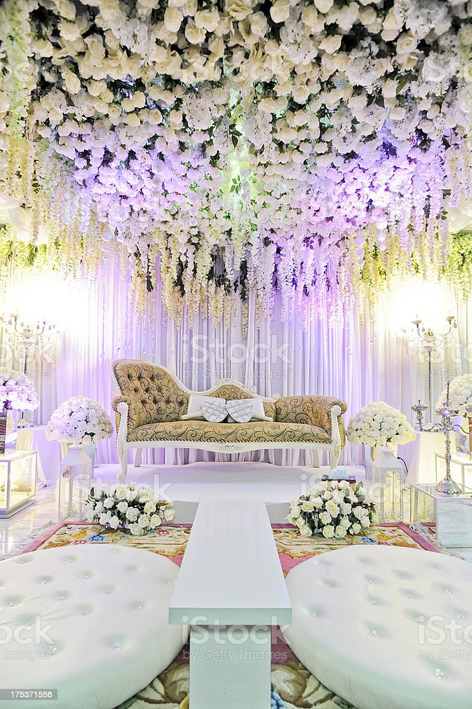indoor wedding stage royalty-free stock photo