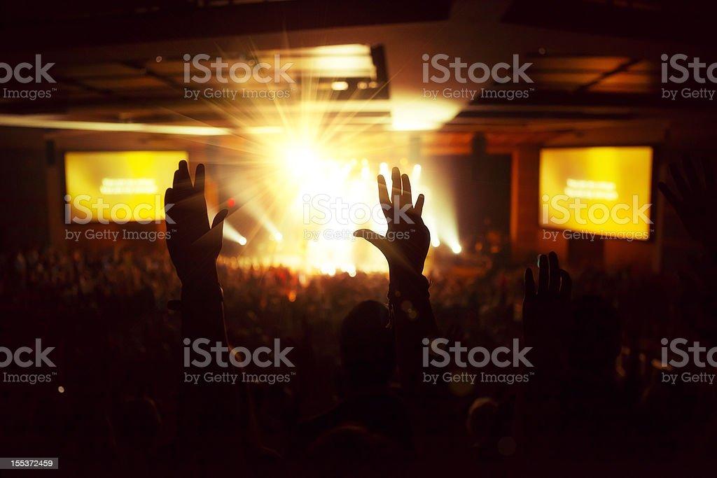 Indoor Worship Concert royalty-free stock photo