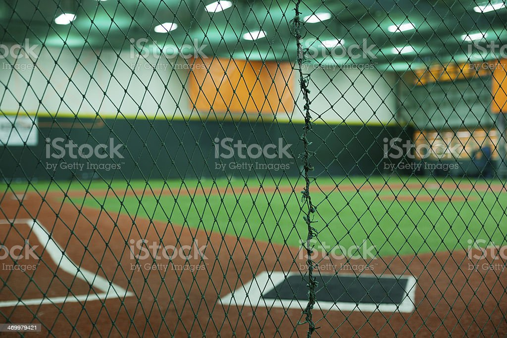 Indoors Baseball Field stock photo