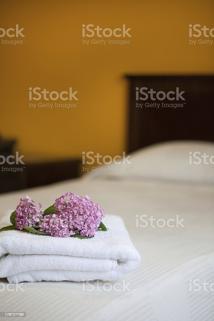 Indoors of a hotel room. royalty-free stock photo