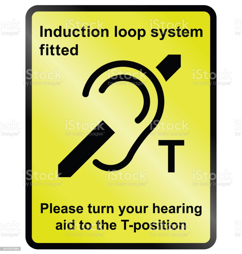 Induction Loop Facility stock photo