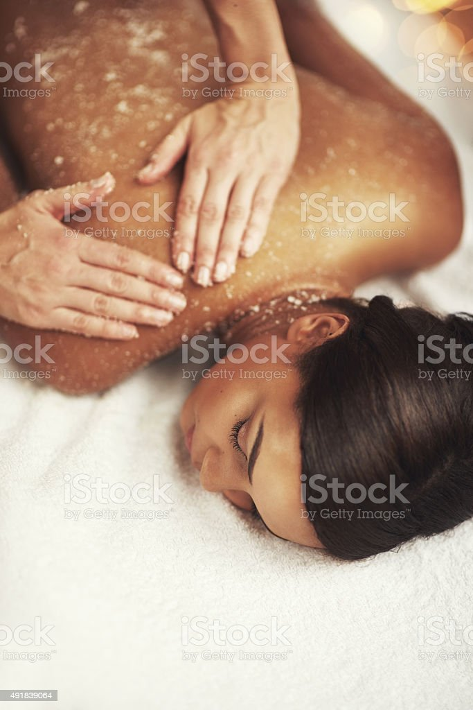 Indulging in a memorable massage stock photo