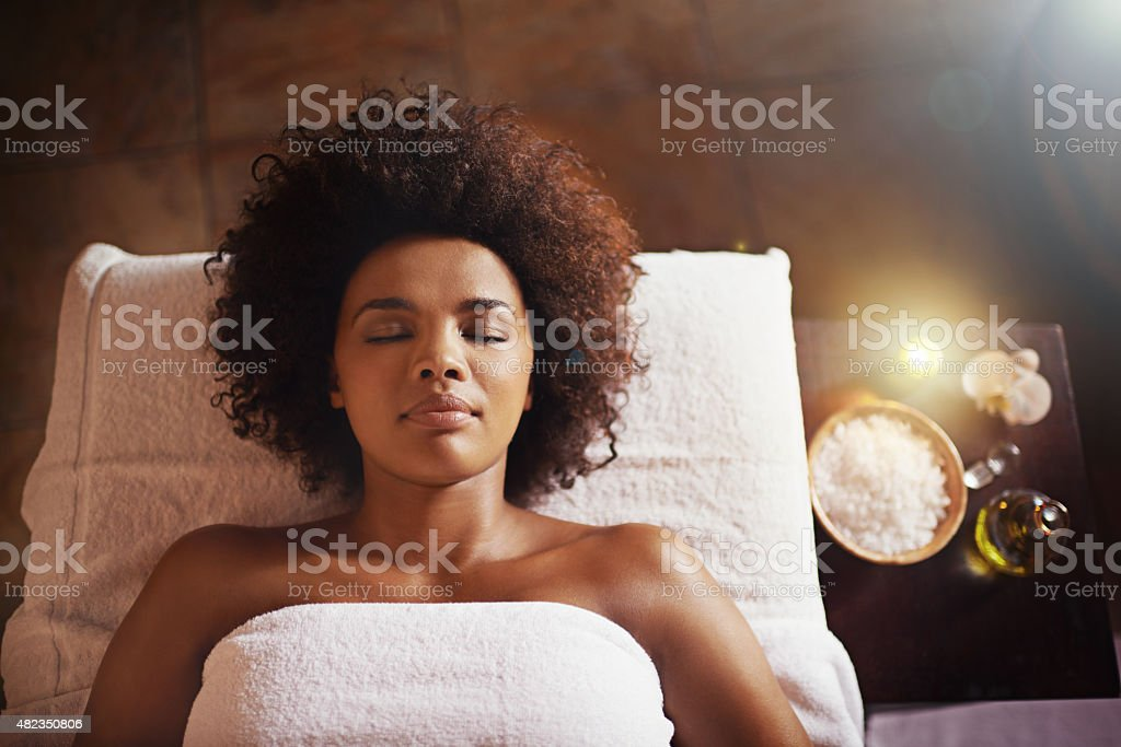 Indulging in some relaxing down time stock photo