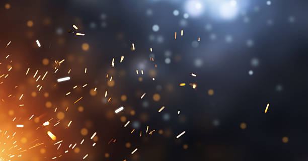 industrial abstract background - particle stock photos and pictures