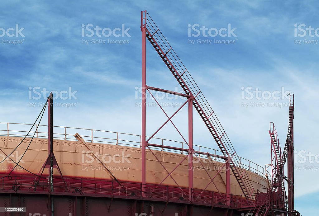 Industrial abstract in yellow, red and blue royalty-free stock photo