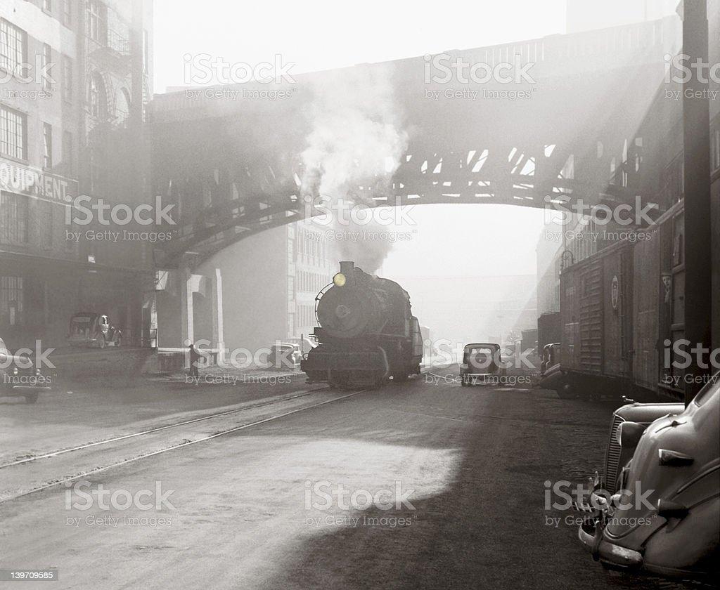 Industrial age scene stock photo