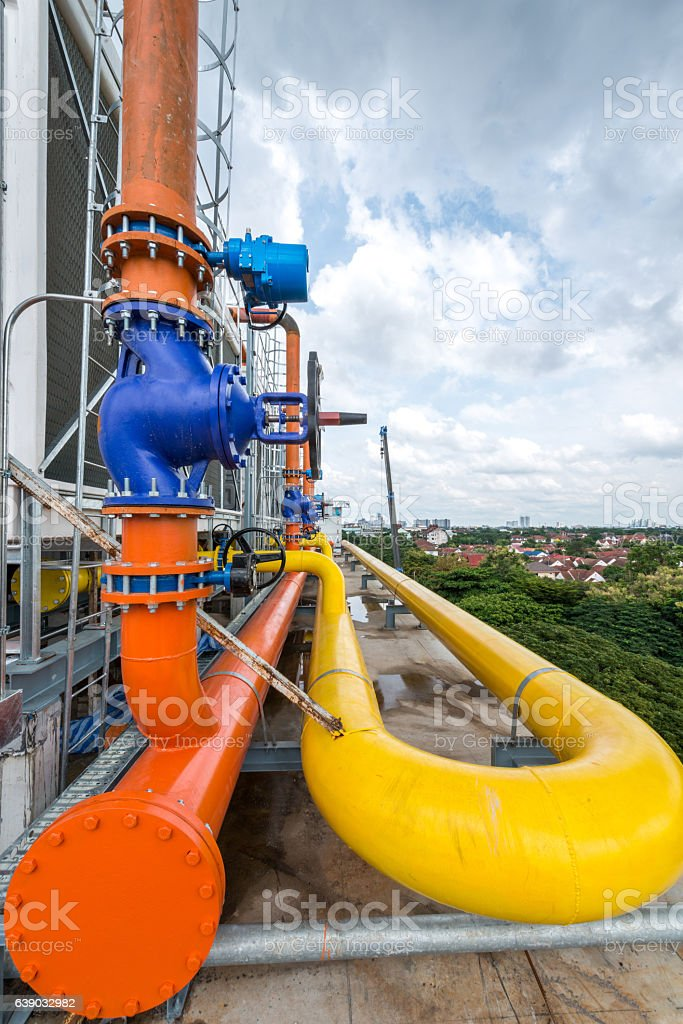 Industrial air conditioner stock photo