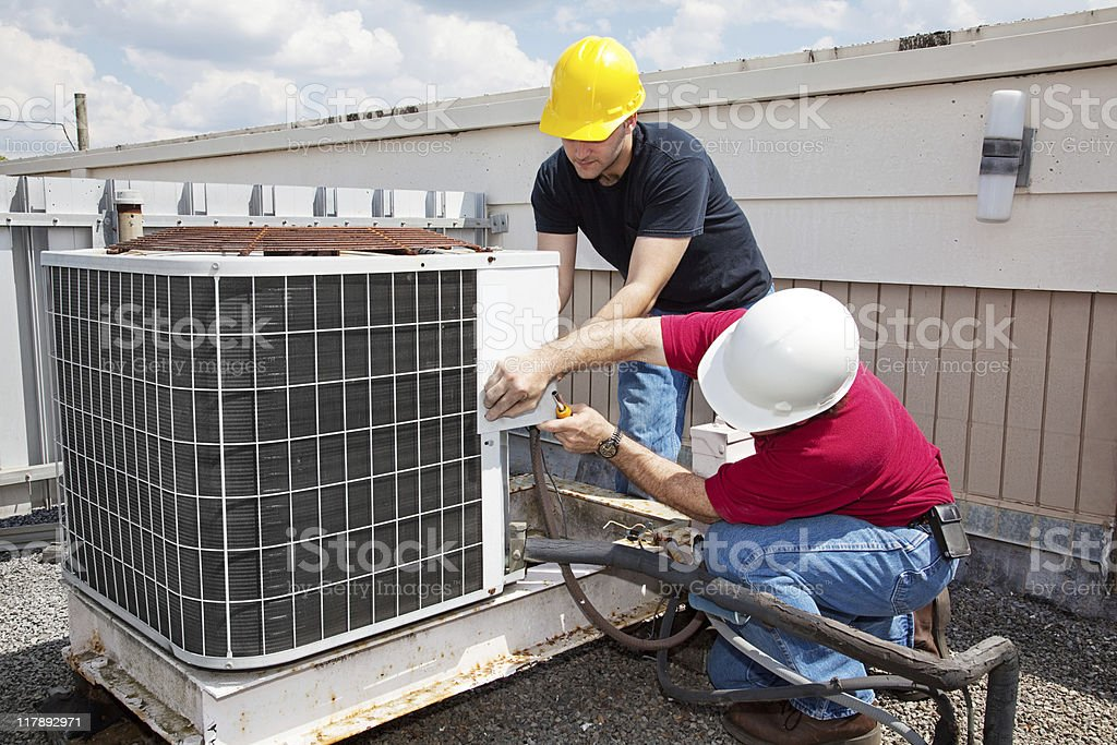 Industrial Air Conditioning Repair stock photo