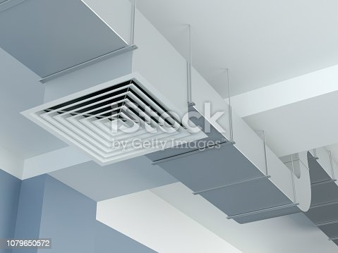 ventilation duct, 3d Illustration