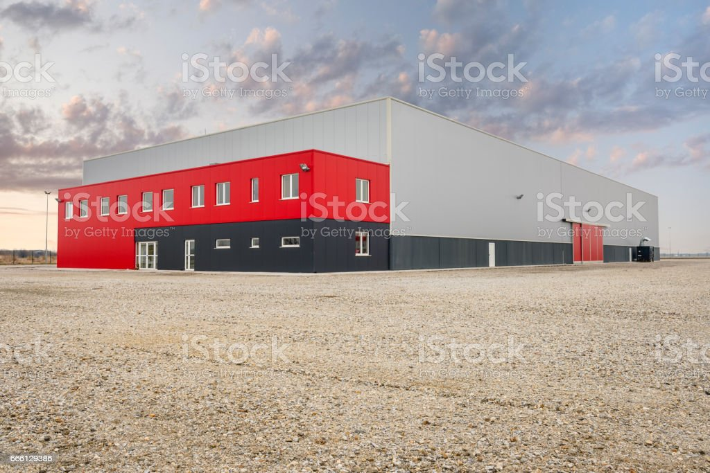 Industrial and commercial hall Lizenzfreies stock-foto