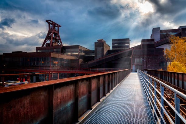 Industrial architecture in the Ruhr, Essen, Germany stock photo