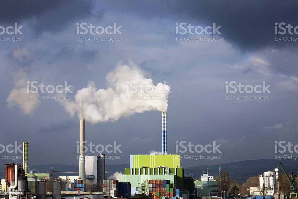 Industrial area, air pollution royalty-free stock photo