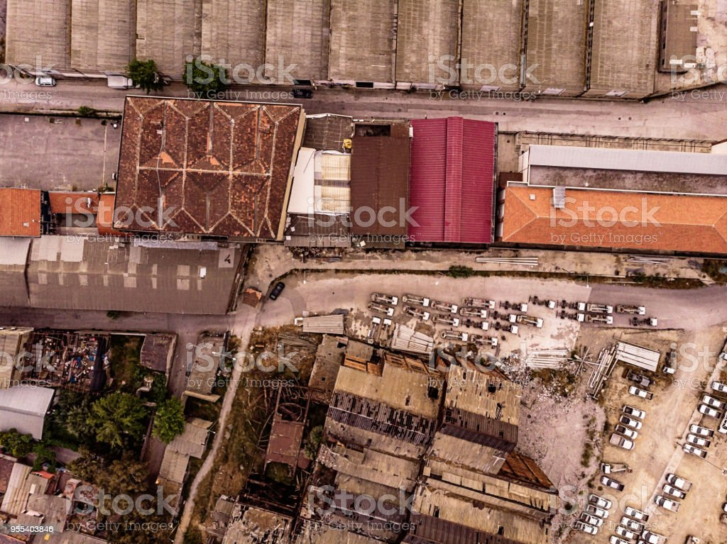 Industrial Area in Izmir - Zbiór zdjęć royalty-free (Architektura)