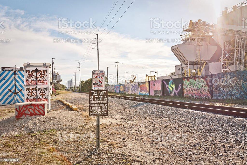 Industrial area in Miami, Florida royalty-free stock photo