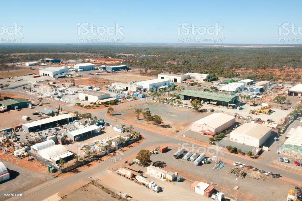 Industrial Area - Kalgoorlie - Australia stock photo