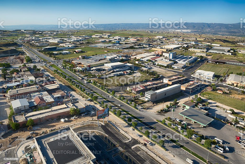 Industrial Area of Denizli, Turkey stock photo